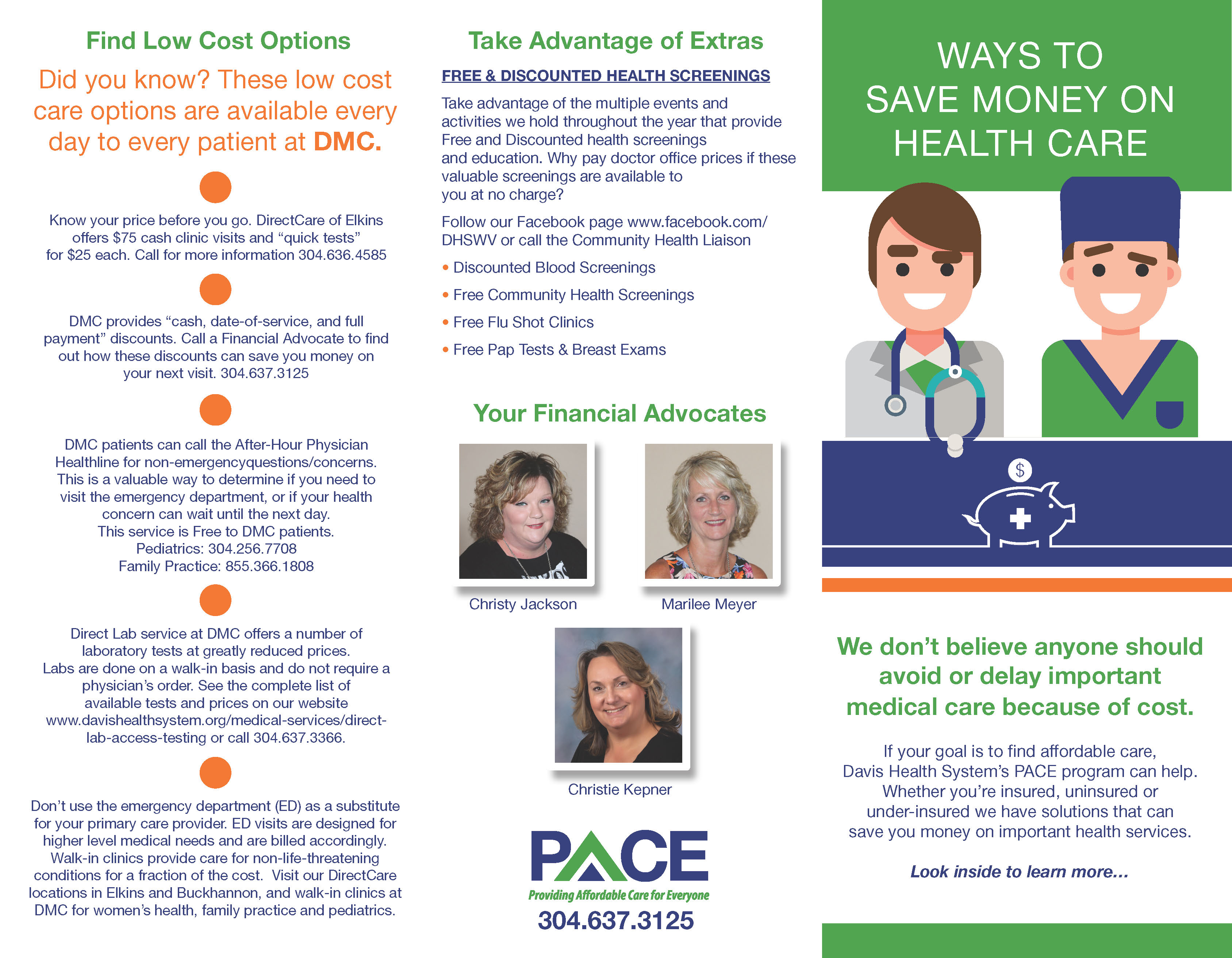 Providing Affordable Care for Everyone (PACE) | Davis Health System